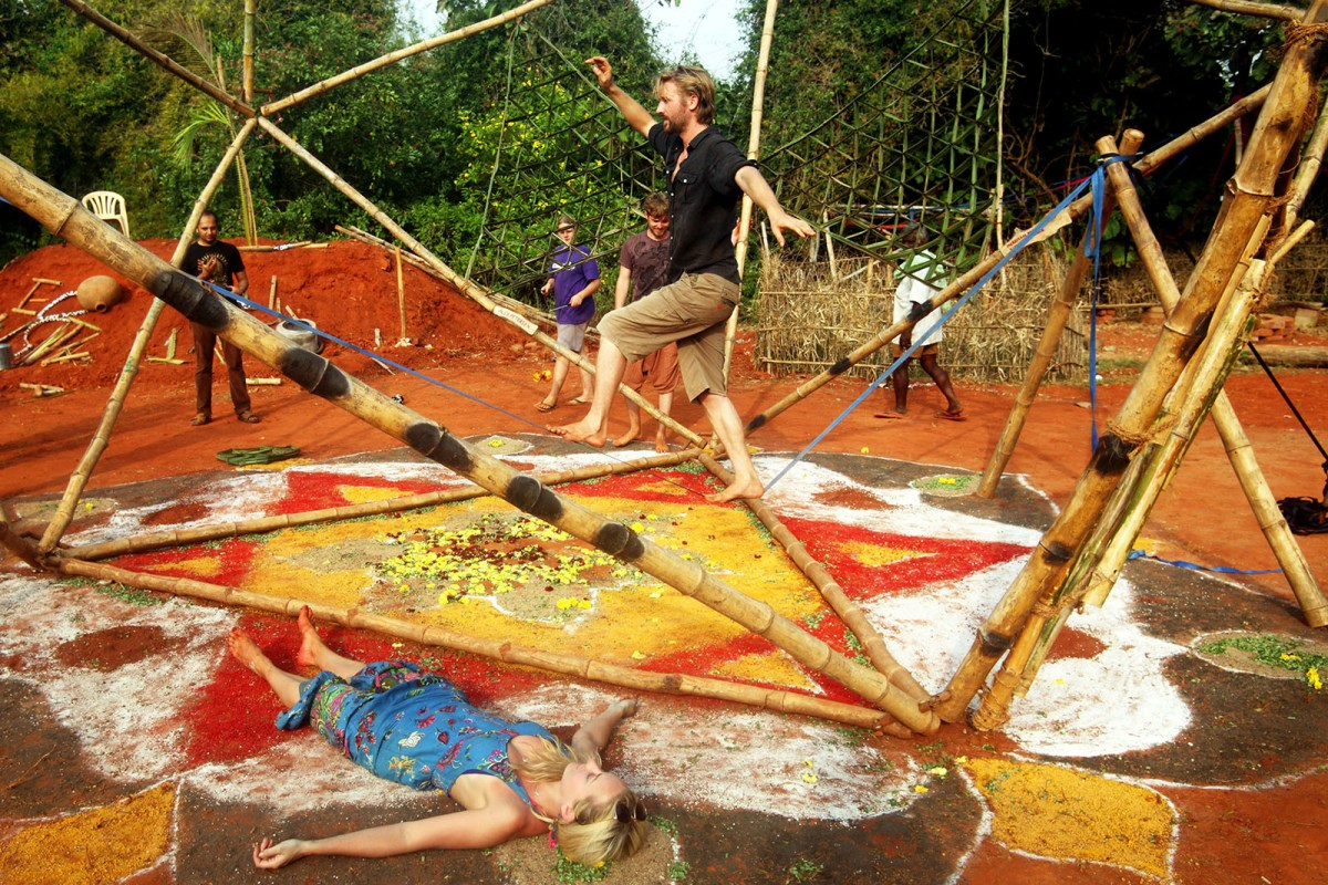 Eco Art Instllations in Auroville by artist Char Evans - 03