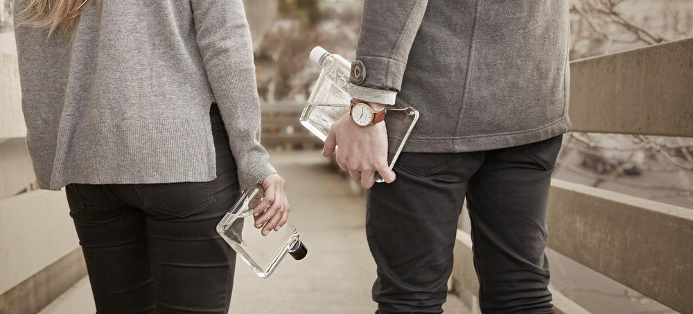 MemoBottle - Minimalist flat water bottle by Jesse Leeworthy - 08