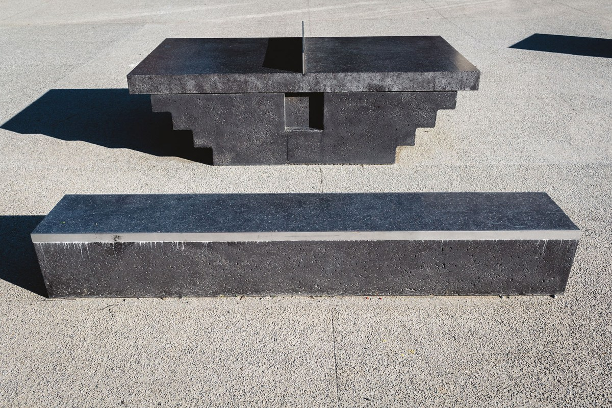 Monoliths - A concrete sculptural Ping Pong Table and Bench - 06