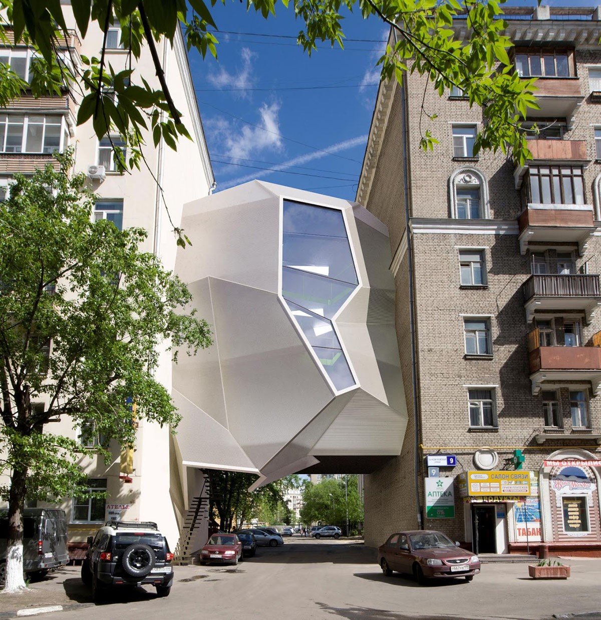 Parasite Office in Moscow by Za Bor Architects - 01