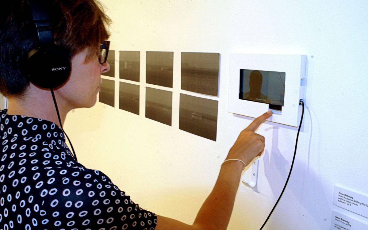 Ship Shape -Curator Kimberly Phillips at small Bishouty screen 2