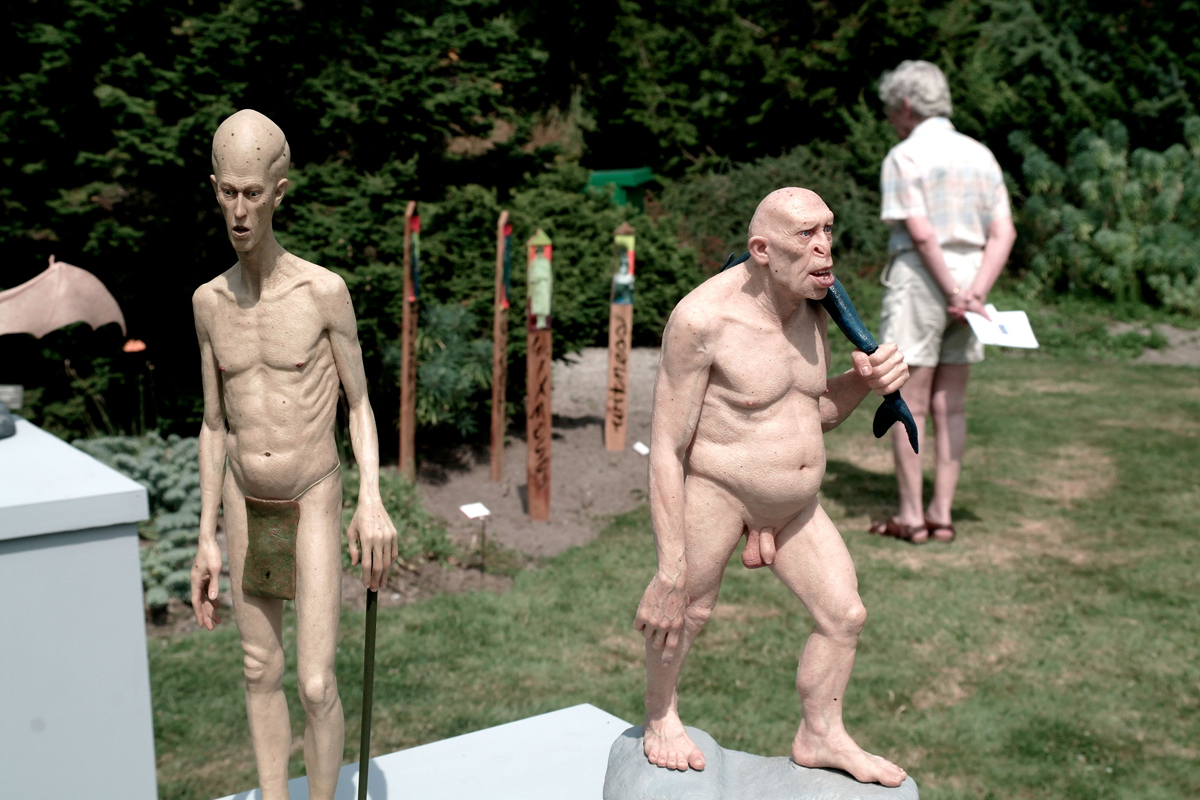 Standing Alien and Ancient Being sculptures by Jesse Rubin - 02