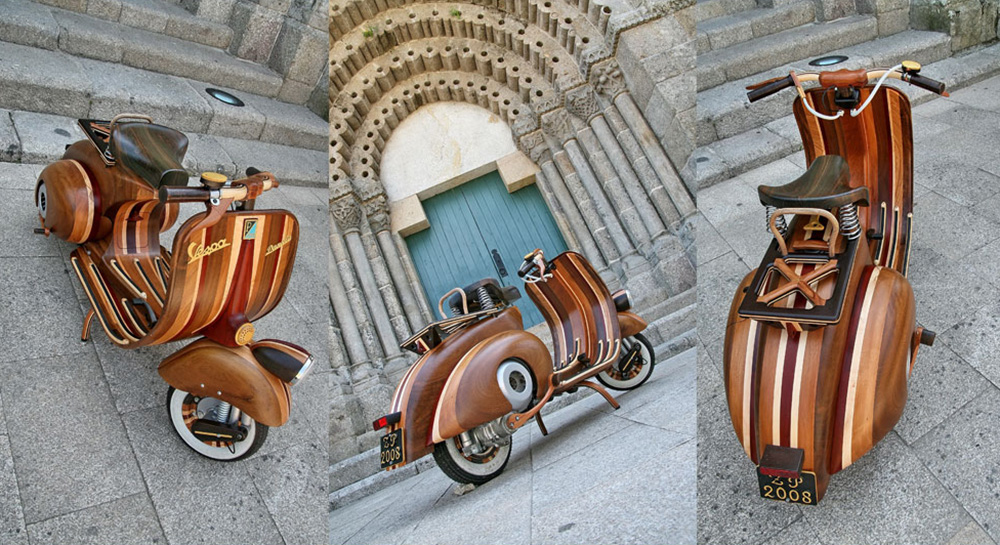 Wooden Vespa designed by Carlos Alberto - 03