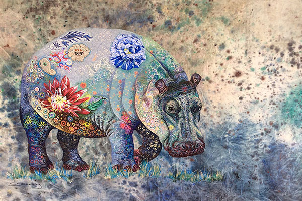 textile-collage-african-wildlife-sophie-standing-04