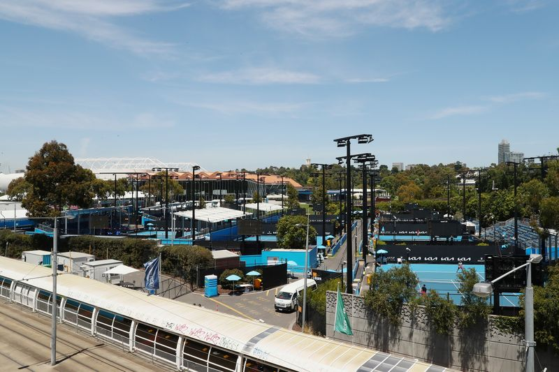 A general view of Melbourne Park ahead of the Australian Open in Melbourne