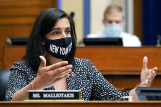 Rep. Nicole Malliotakis, R-N.Y., speaks during a House Select Subcommittee on the Coronavirus Crisis hearing on Capitol Hill in Washington, Thursday, April 15, 2021. (AP Photo/Susan Walsh, Pool)