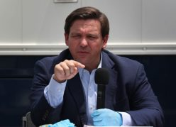 MIAMI BEACH, FLORIDA - APRIL 08: Florida Gov. Ron DeSantis speaks during a press conference at the Miami Beach Convention Center on April 08, 2020 in Miami Beach, Florida. Gov. DeSantis spoke about the U.S. Army Corp. of Engineers converting the convention center into a field hospital with 400 regular hospital beds and 50 ICU beds, with the ability to scale up to 1,000 beds if needed, as the region prepares for a possible surge of coronavirus patients.  (Photo by Joe Raedle/Getty Images)