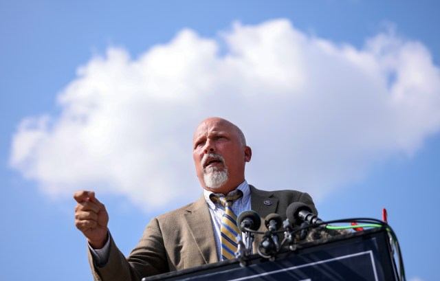 Rep. Chip Roy (R-TX) outside the Capitol Building in Washington , D.C. (Photo by Kevin Dietsch/Getty Images)