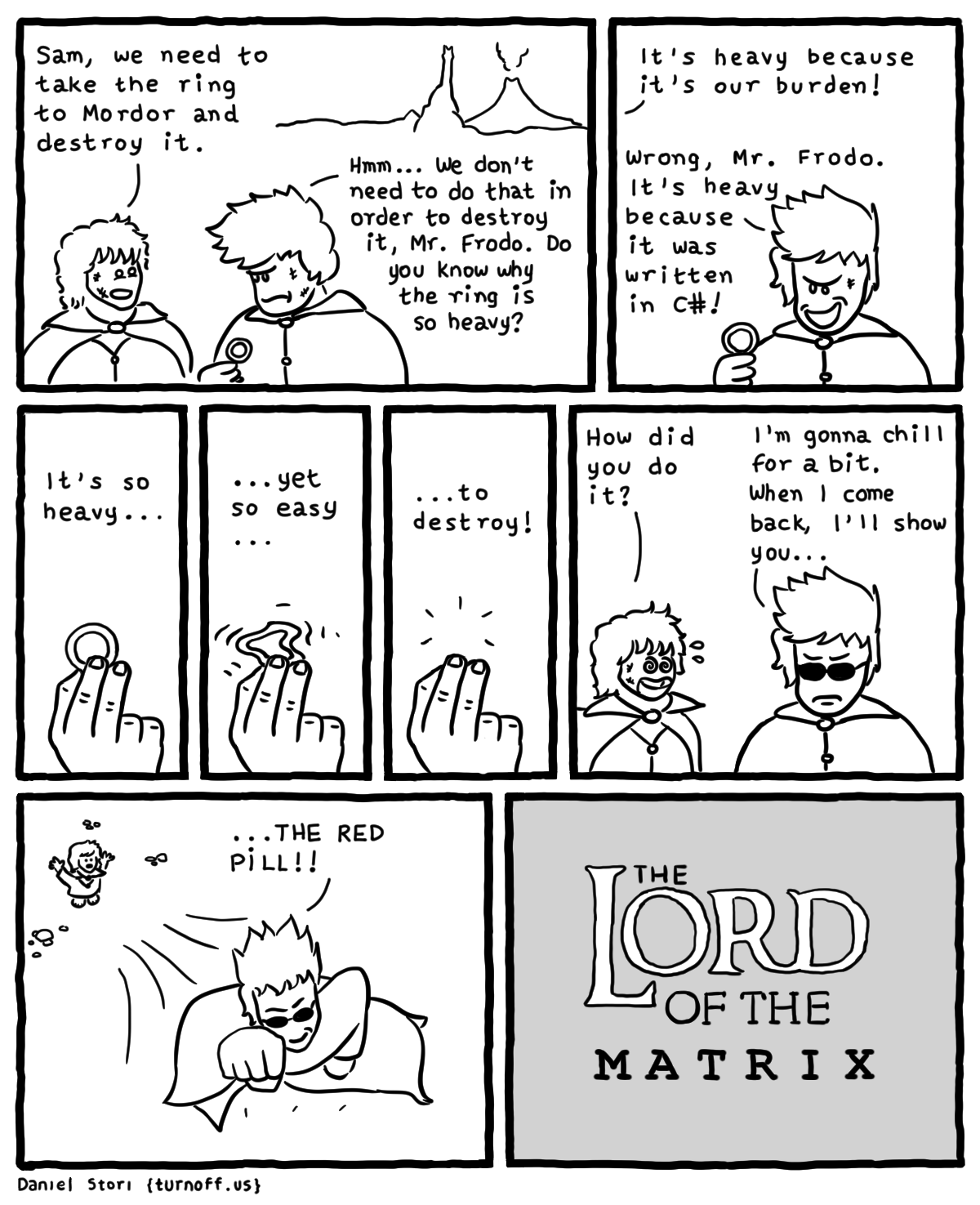 The Lord Of The Matrix Comic