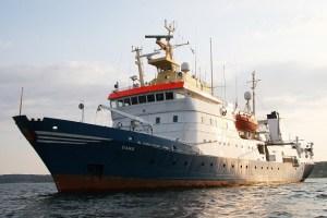 Forskningsskibet Dana, som man bl.a. har mulighed for at komme om bord på under festivalen