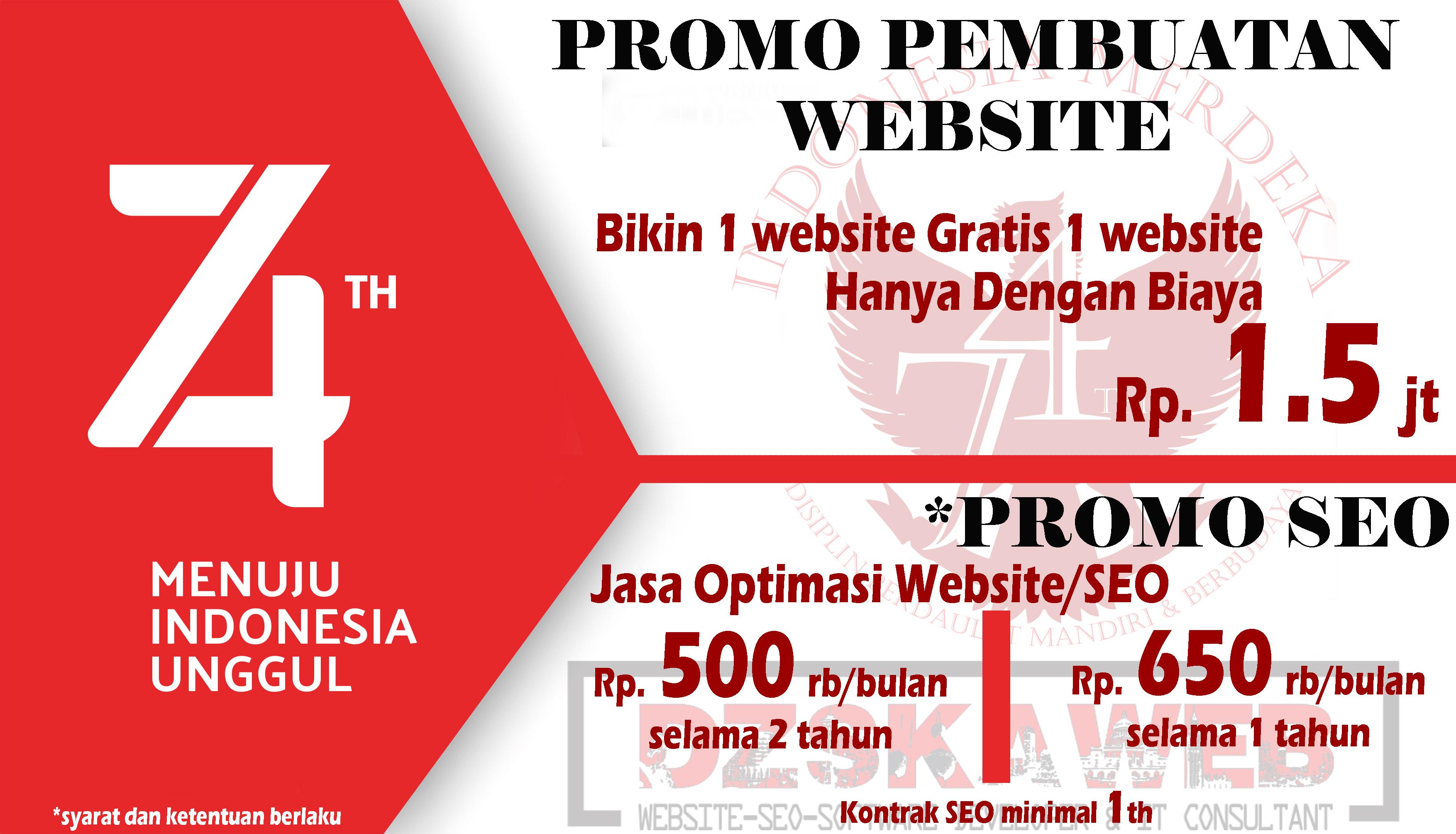 Promo Website & SEO Bulan Agustus