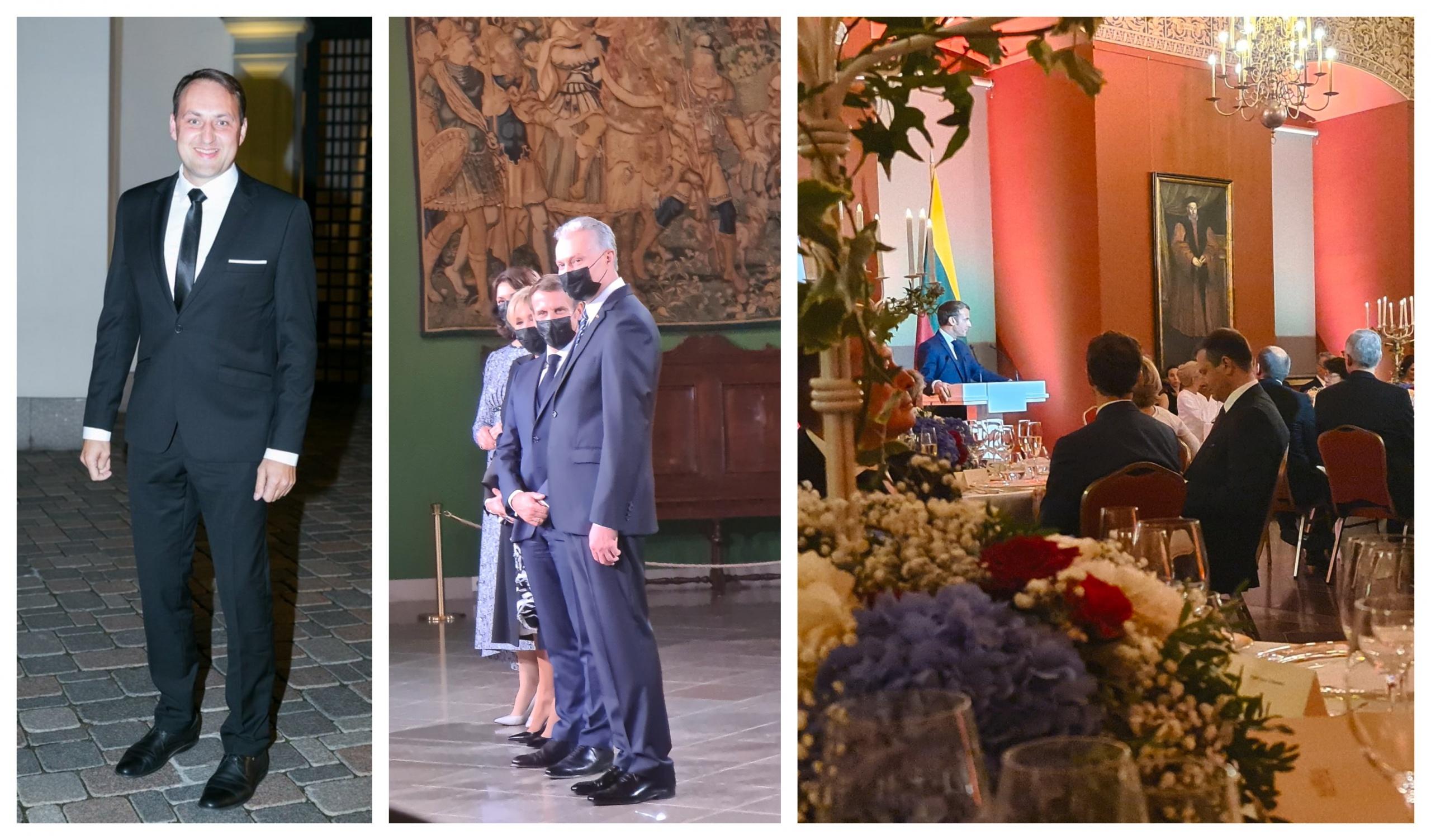 Šventinėje vakarienėje – kelios frazės tarp Prancūzijos prezidento ir Alytaus mero 12