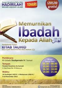 Daurah Kitab Tauhid 10 Hari Makassar