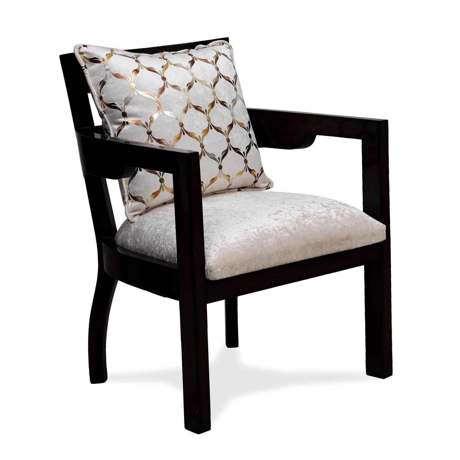 projakto medium back upholstered chair  handcrafted