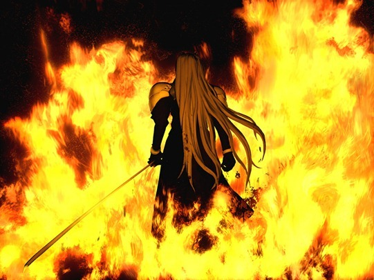 The iconic image of Sephiroth
