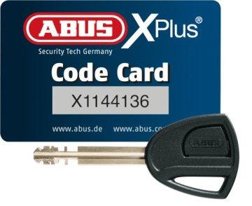 ABUS Fahrradschloss 1060 / 110 Black, schwarz, 10 mm / 110 cm -