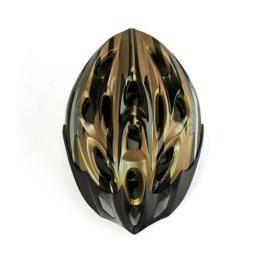 CARCHET? Fahrrad Bike Helmet Helm MEGGY Fahrradhelm verstellbar Gr??e L schwarz-gold -