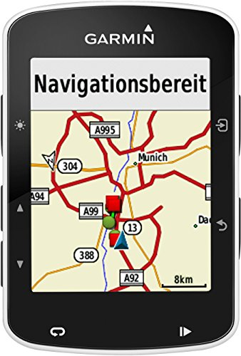 Garmin Edge 520 GPS-Radcomputer inkl. Herzfrequenz-Brustgurt, Trittfrequenz- und Geschwindigkeitssensor - Performance-/Trainingsanalyse, Smart Notifications -