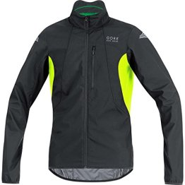 GORE BIKE WEAR Herren Fahrradjacke, Super Leicht, GORE WINDSTOPPER, ELEMENT WS AS Jacket, Größe: XL, Schwarz/Neon Gelb, JELECO -