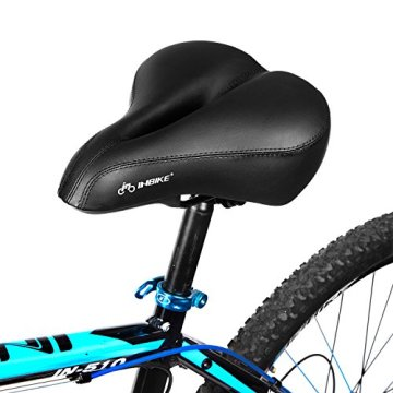 Inbike Fahrradsättel Citysättel Vollschaum Polsterung mit Gel Elastomer Dämpfung Rückwärtiger Reflektor -