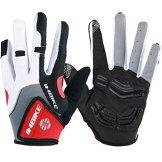 Inbike Herren Fahrradhandschuhe Mit Gel vollfinger MTB Handschuhe für das Radfahren(Rot-Lang,XL) -