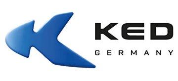 KED Fahrradhelm Meggy II K-Star, Größe S/M, Kopfumfang 49-53 cm bei 270 g, Blau, Für Kinder, die dem Laufrad entwachsen sind und auf die coole Motocross-Optik und angesagtes Flammen-Styling abfahren - Made in Germany -