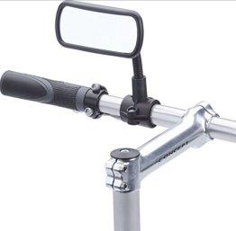 KRS- SPF - Schwanenhals Fahrradspiegel Fahrrad Mofa Rollstuhl Rollator Spiegel Rückspiegel Convex E Bike -