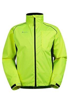 Mountain Warehouse Adrenaline Iso-Viz Herren Fahrradjacke Hohe Sichtbarkeits Schutz reflektierend atmungsaktiv Sportjacke Radsport Laufen Joggen Gelb X-Large -