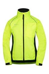 Mountain Warehouse Iso-Viz-Jacke Radtrikot Adrenalin für Damen hoch reflecktierend Laufjacke Fahrradjacke Sport Gelb DE 36 (EU 38) -