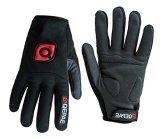 QEPAE® Rutschfeste Gel Polster Fahrrad Handschuhe Herren Damen mit dem Klettverschluss geeignet für Fahrrad Reiten Radsport Camping und mehr Sports im Freien -