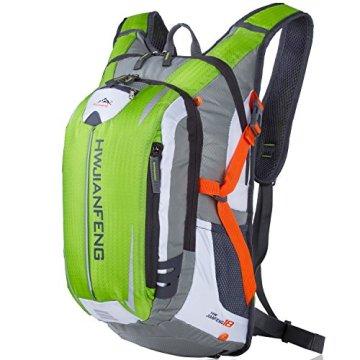 SHTH Wasserdicht Fahrrad Schulter Rucksack Wasser Reisetasche Ultralight für Radsport Outdoor Reiten Bergsteigen Hydration ,46*26*23cm,18L (Grün) -