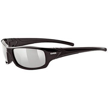 UVEX Sportsonnenbrille Sportstyle 211, Black/Lens Litemirror Silver, One Size, 5306132216 -