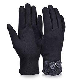Vbiger Touchscreen Handschuhe Outdoor Sport Fahrradhandschuhe Mountainbike Handschuhe skifahren Handschuhe (Schwarz) -