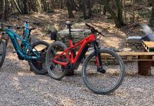 new BMC Trailfox AMP SX long travel eMTB and alloy Speedfox AMP e-mountain bikes