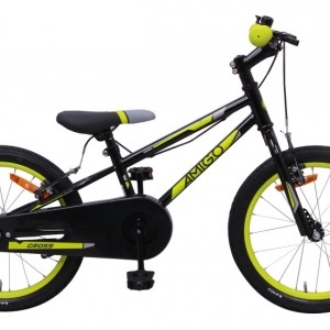 AMIGO Cross 18 Inch 22 cm Junior V-Brake Zwart/Groen