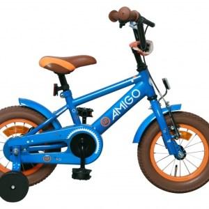 AMIGO Sports 12 Inch 20 cm Jongens Terugtraprem Blauw