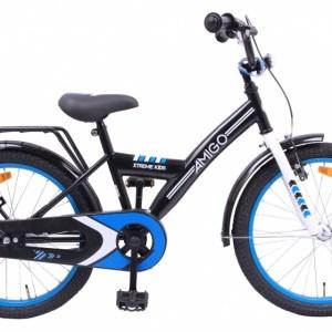 AMIGO Xtreme Kids 18 Inch 25 cm Jongens Terugtraprem Zwart/Blauw