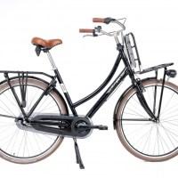 Aynak Muze transportfiets 28 Inch 53 cm Dames 3V Terugtraprem Zwart Kopen Online