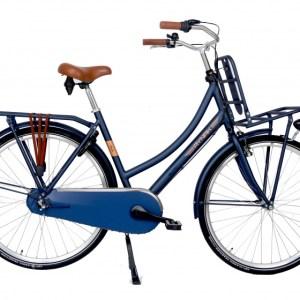Aynak Nilly transportfiets 28 Inch 53 cm Dames 3V Terugtraprem Donkerblauw