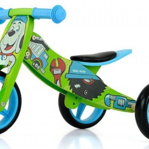Milly Mally 2-in-1 loopfiets Jake Bob Jongens Blauw