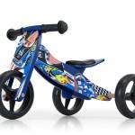 Milly Mally 2-in-1 loopfiets Jake Cars Junior Blauw