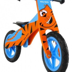 Milly Mally loopfiets Duplo Giraffe 12 Inch Junior Blauw/Oranje