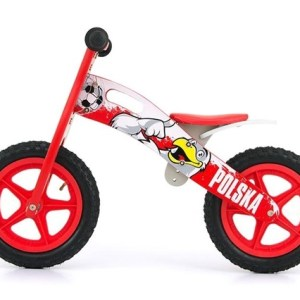 Milly Mally loopfiets King Polska 12 Inch Junior Rood/Wit