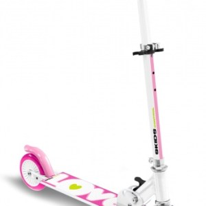 Skids Control vouwstep Love Meisjes Voetrem Roze
