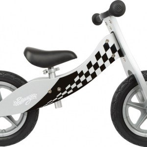 Small Foot Race loopfiets 12 Inch Junior Wit/Zwart