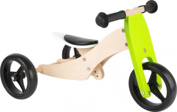 Small Foot Tricycle Trike 2-in-1 loopfiets 10 Inch Junior Groen