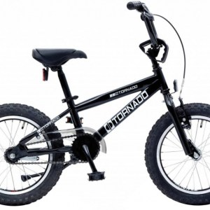 Bike Fun Cross Tornado 16 Inch 34 cm Junior Terugtraprem Zwart