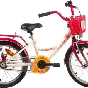 Bike Fun Lollipop 16 Inch 22 cm Meisjes Terugtraprem Crème/Rood