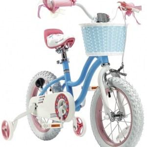 RoyalBaby Stargirl 12 Inch 24 cm Meisjes Trommelrem Blauw/Roze