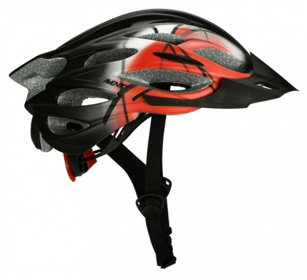 Avento Fietshelm senior unisex zwart rood maat 58/61 cm